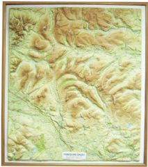 Yorkshire Dales Raised Relief Map - Framed